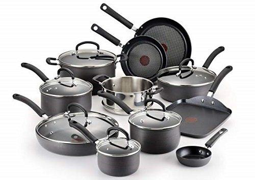 T-fal Hard Anodized 17-Piece Nonstick Gas Stoves Cookware