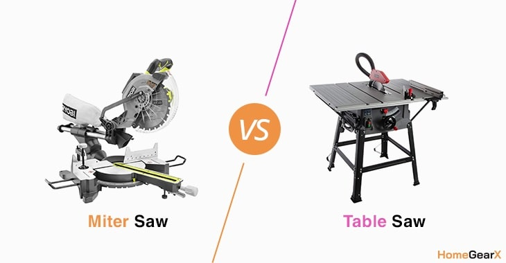 Miter Saw vs. Table Saw