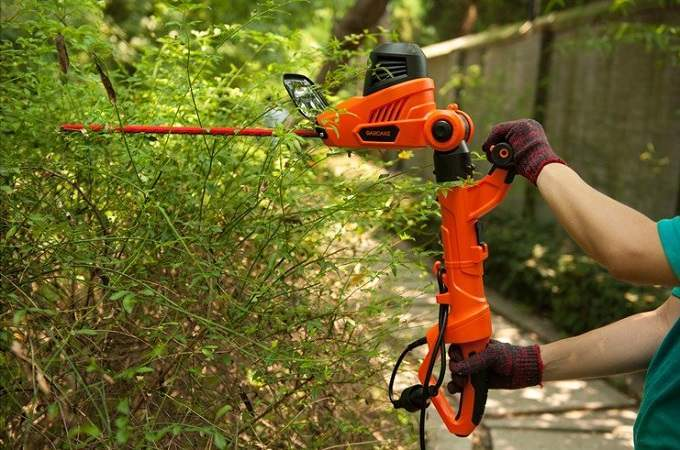 How to Use a Pole Hedge Trimmer Safely