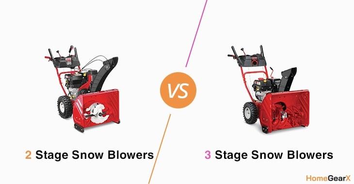 2 Stage vs. 3 Stage Snow Blower