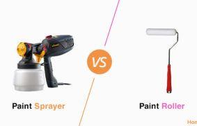 Paint Sprayer vs. Roller