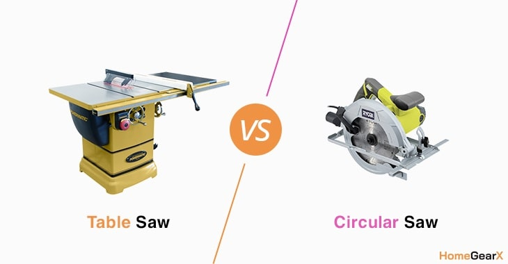 Table Saw vs. Circular Saw