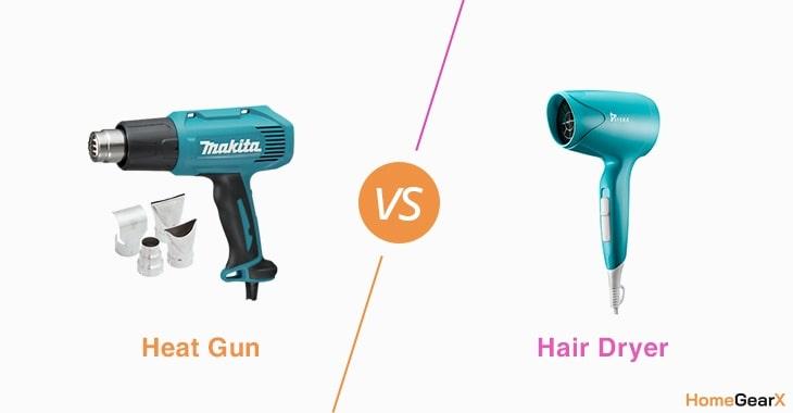 Heat Gun vs. Hair Dryer