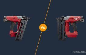 Angled vs. Straight Finish Nailer