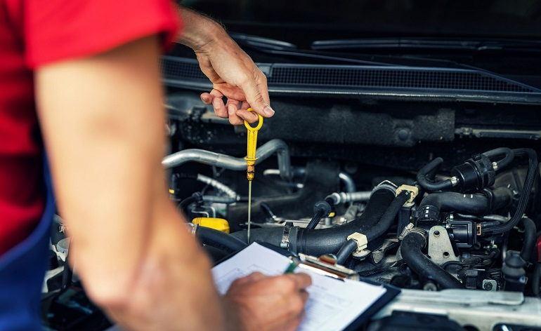 Check Oil in AC Compressor